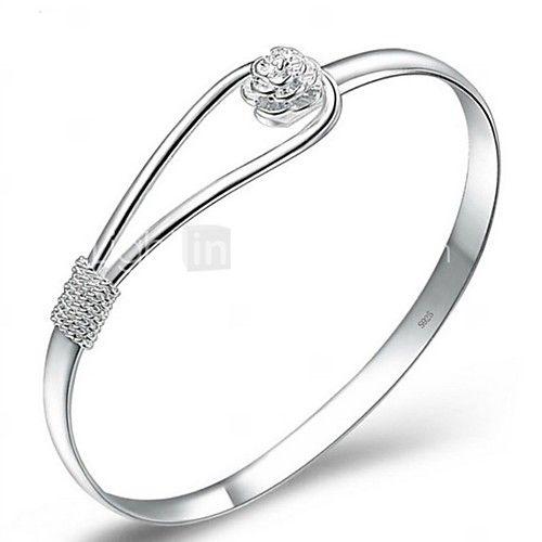 Bangles / Pulseiras Algema(Prata Chapeada) -Casamento / Pesta / Diário - BRL R$11,39