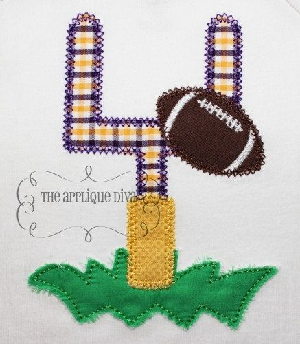 Fall Football Goal Post Embroidery Design by theappliquediva, $2.99