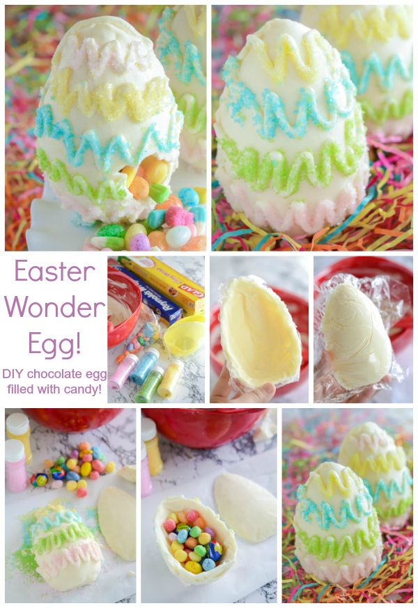 DIY Easter WonderEgg - chocolate egg with a hidden candy surprise!
