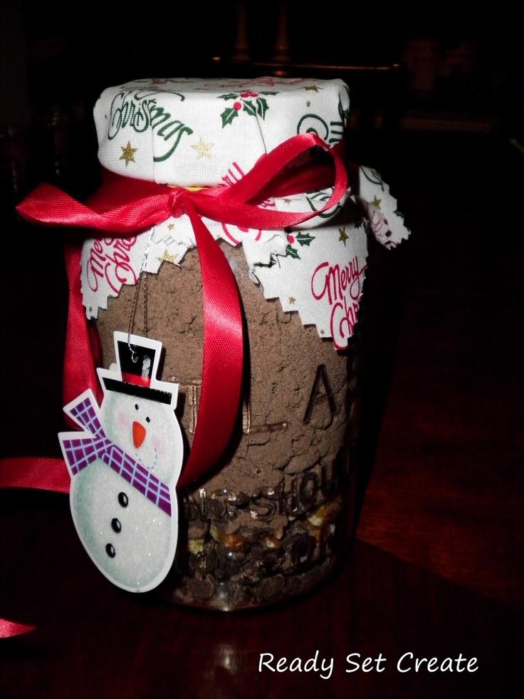 Mason Jar Brownie mix Christmas Gift