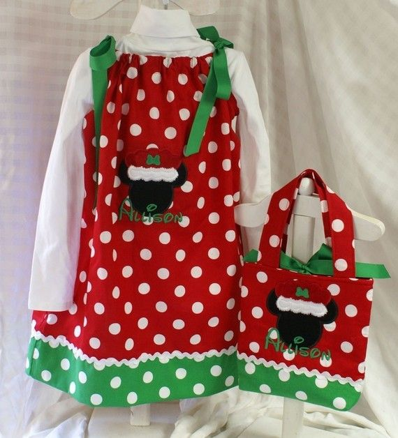 Items similar to Christmas Minnie Mouse Mrs Claus Pillowcase Dress AND Matching Purse on Etsy & 126 best Pillowcase Dresses images on Pinterest   Pillowcase ... pillowsntoast.com
