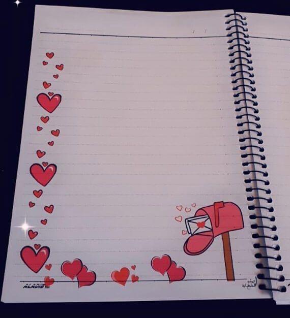 أفكار تزيين دفتر التحضير من الداخل تزيين كشكول التحضير بالفوم بالعربي نتعلم Borders For Paper Card Drawing Diy Crafts For Gifts