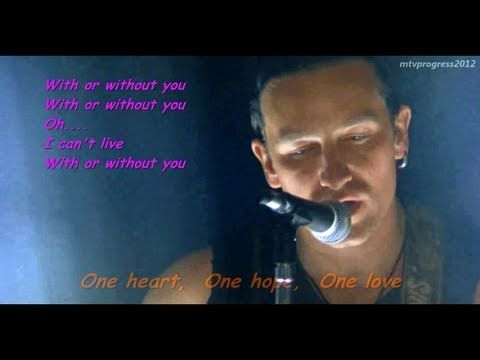 "U2 - With Or Without You ( live 1987 )[ lyrics ]  Michael's and my ""song""  Luckily, we finally figured out how to live with each other...it only took about ten years. :)"