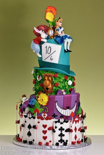 Alice In Wonderland Cake by Jacques Fine European Pastriesone of the best character cakes i've ever seen! wow!