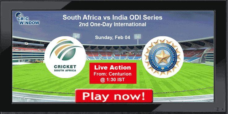 Enjoy Ind vs SA 2nd ODI Live Video Match from Centurion