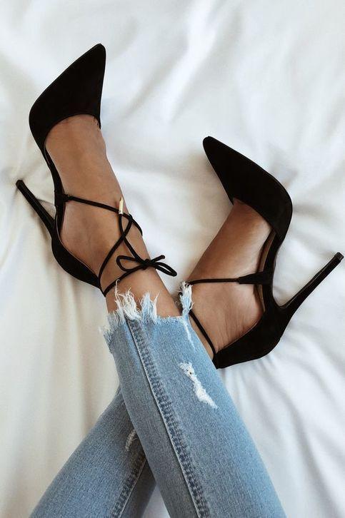 2019 new high heels female charming black sandals hot g6950