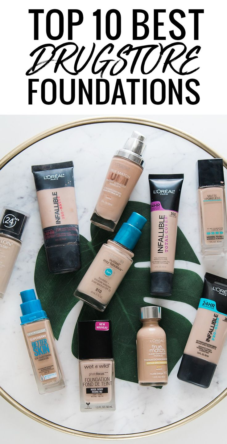 10 best drugstore foundations