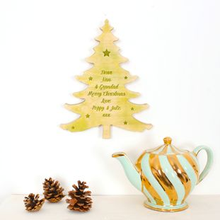 Personalised message Christmas tree - Christmas decorations