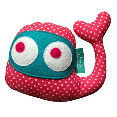 lukola handmade // Baby Whales - grzechotki // Baby Whales - baby clappers