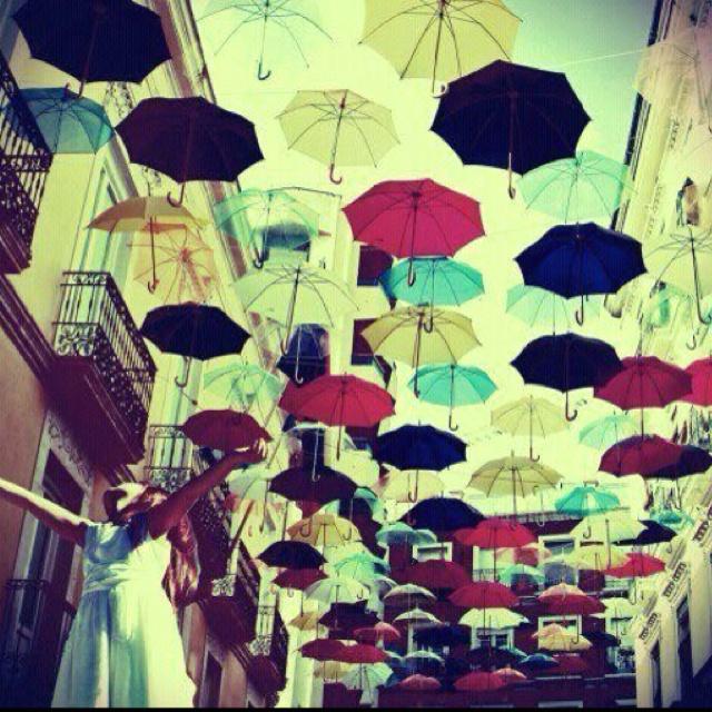 Happy little umbrellas