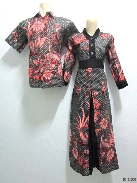 KODE B128 | IDR 175.000/pasang | Bahan : katun prima, batik sablon kombinasi | Size M, L, XL | Hotline : 081333303545 | BB Pin 2128117C.