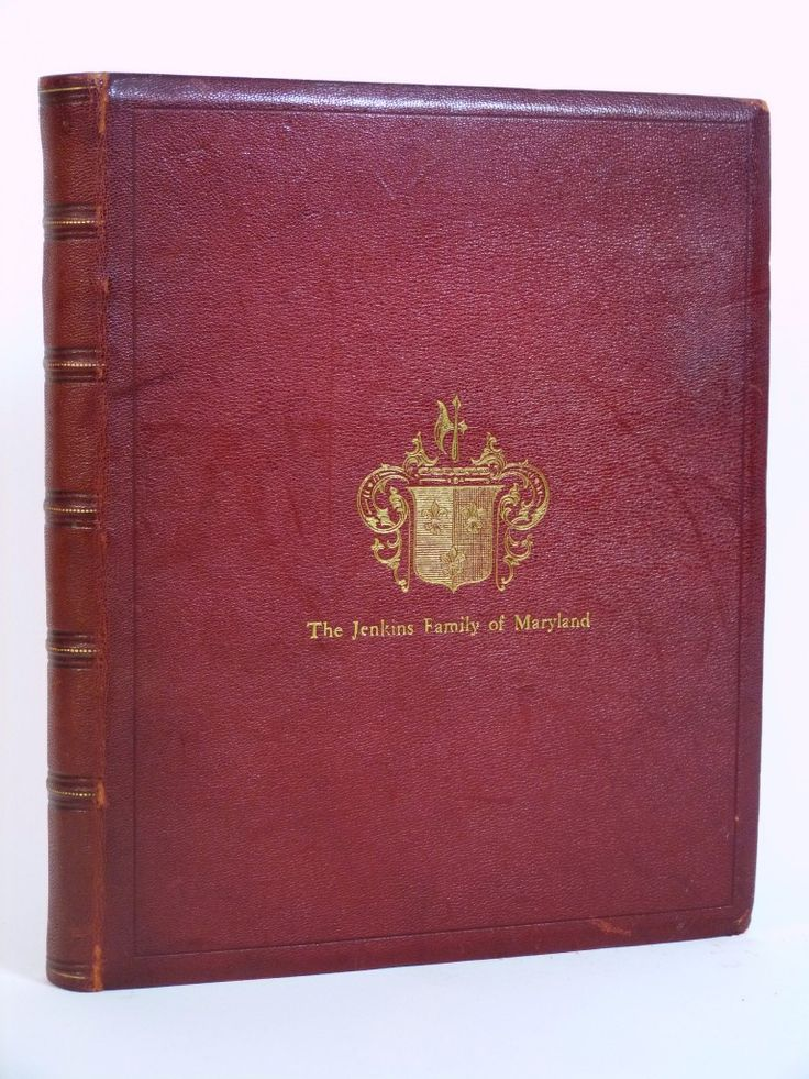 Genealogy of the Jenkins family of Maryland, from 1664 to 1895 by Mary Isabella Plowden Jenkins | Cox & Budge Booksellers