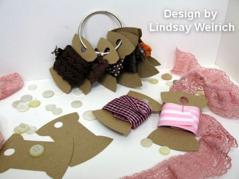 free svg to cut ribbon bobbins- cut with my silhouette cameo to store ribbon and trims
