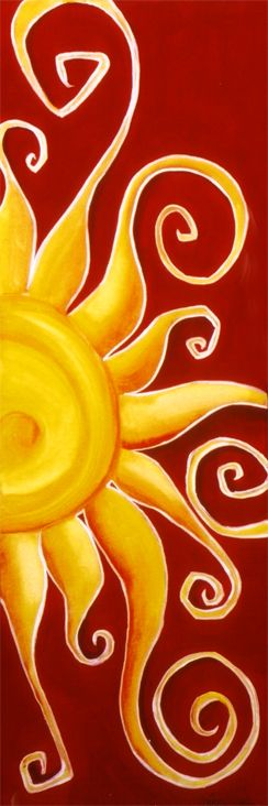 """Etu"" - Sun Painting by shadi desjardins   www.shadidesjardins.com"