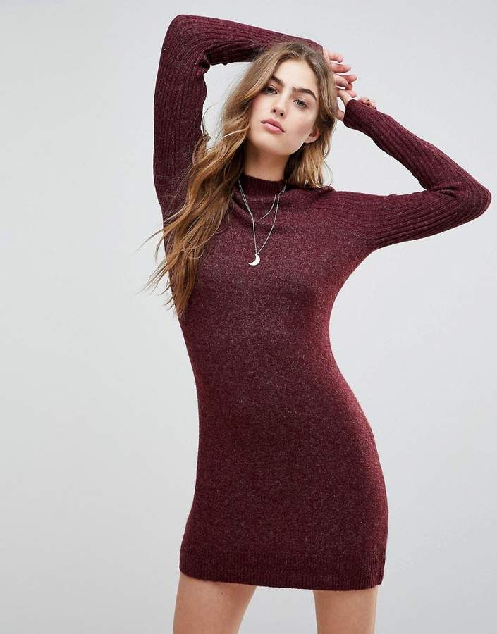 Abercrombie & Fitch Womans Burgundy Sweater Dress