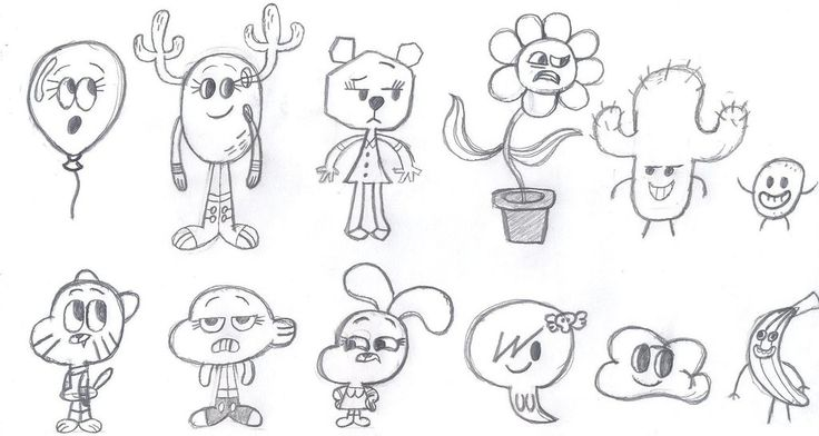 Gumball Cartoon Characters Coloring Pages