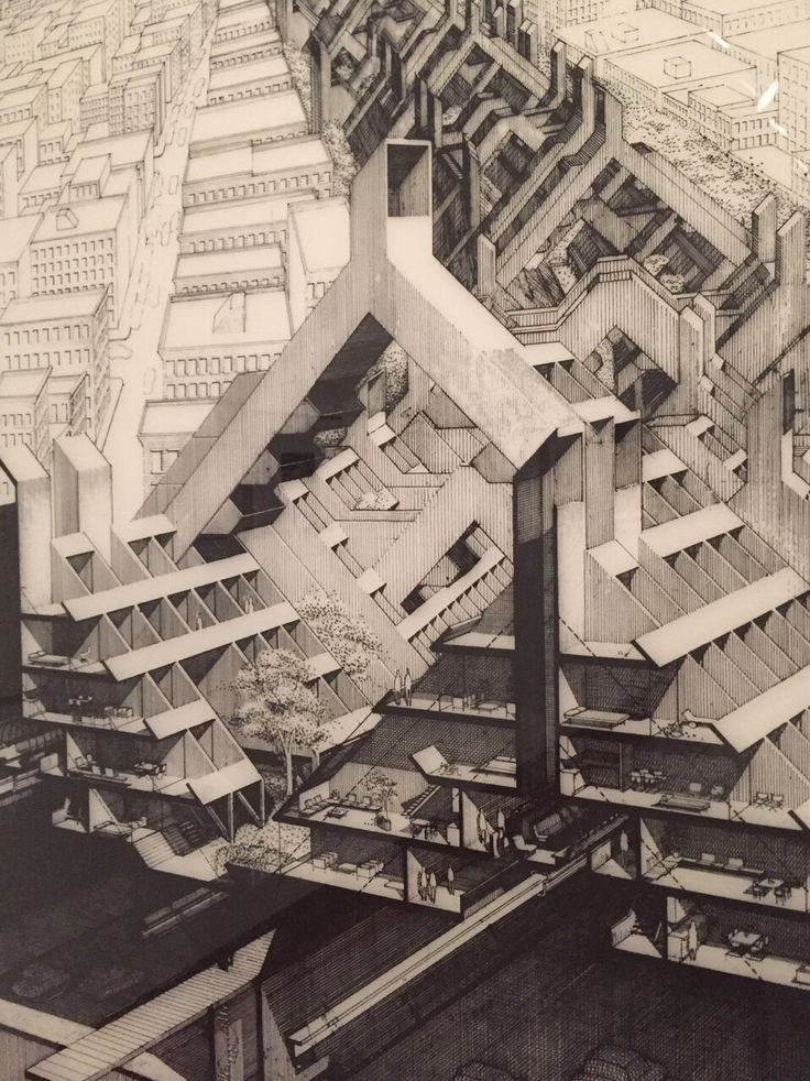 Paul Rudolph : LOMEX drawing detail | Princeton Art Museum
