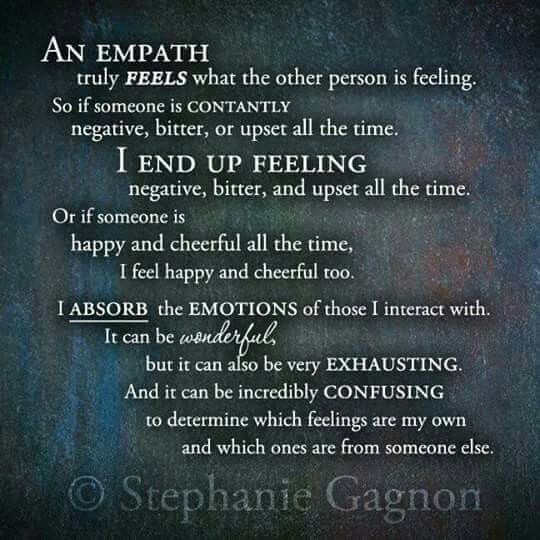 Empaths: Absorb but don't become consumed.