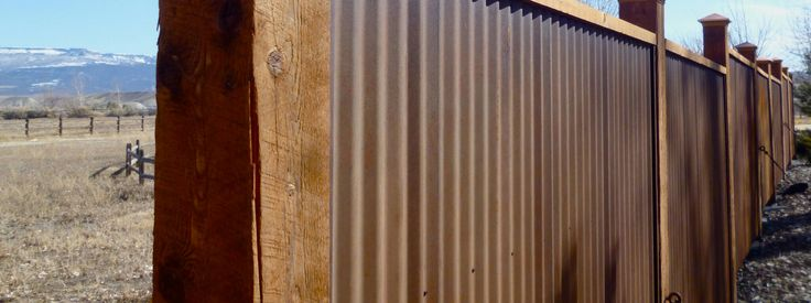 Best Brown Corrugated Metal Fence Metal Fence Panels 400 x 300