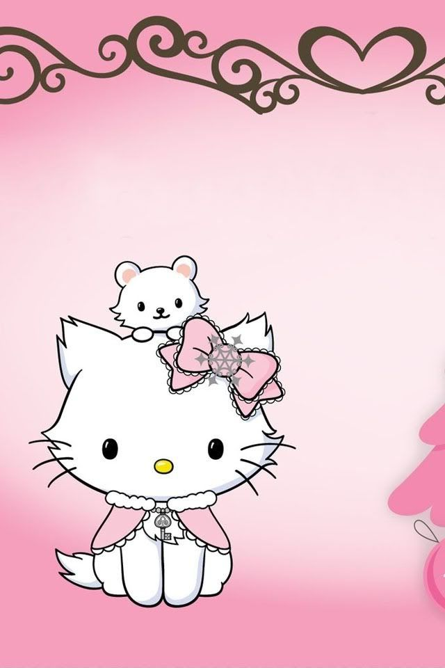 Charmmy Kitty and Sugar. Pinning this so ya'll will quit callin her Hello Kitty. Charmmy is Hello Kitty's pet cat, and sugar is her hamster.