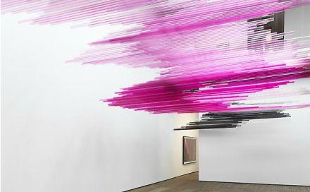 Teresita Fernández – Night Writing (Installation View), Lehmann Maupin Gallery