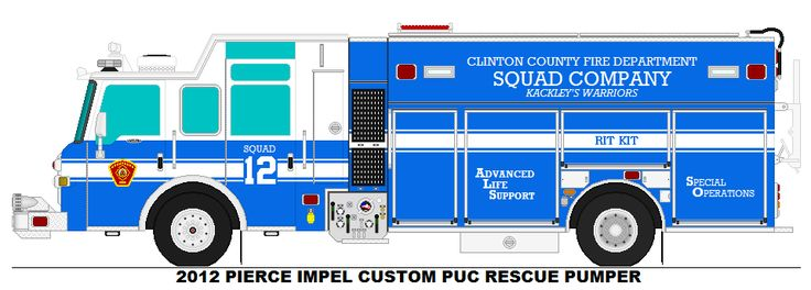 2012 PIERCE IMPEL CUSTOM PUC RESCUE PUMPER CLINTON COUNTY FD SQUAD 12