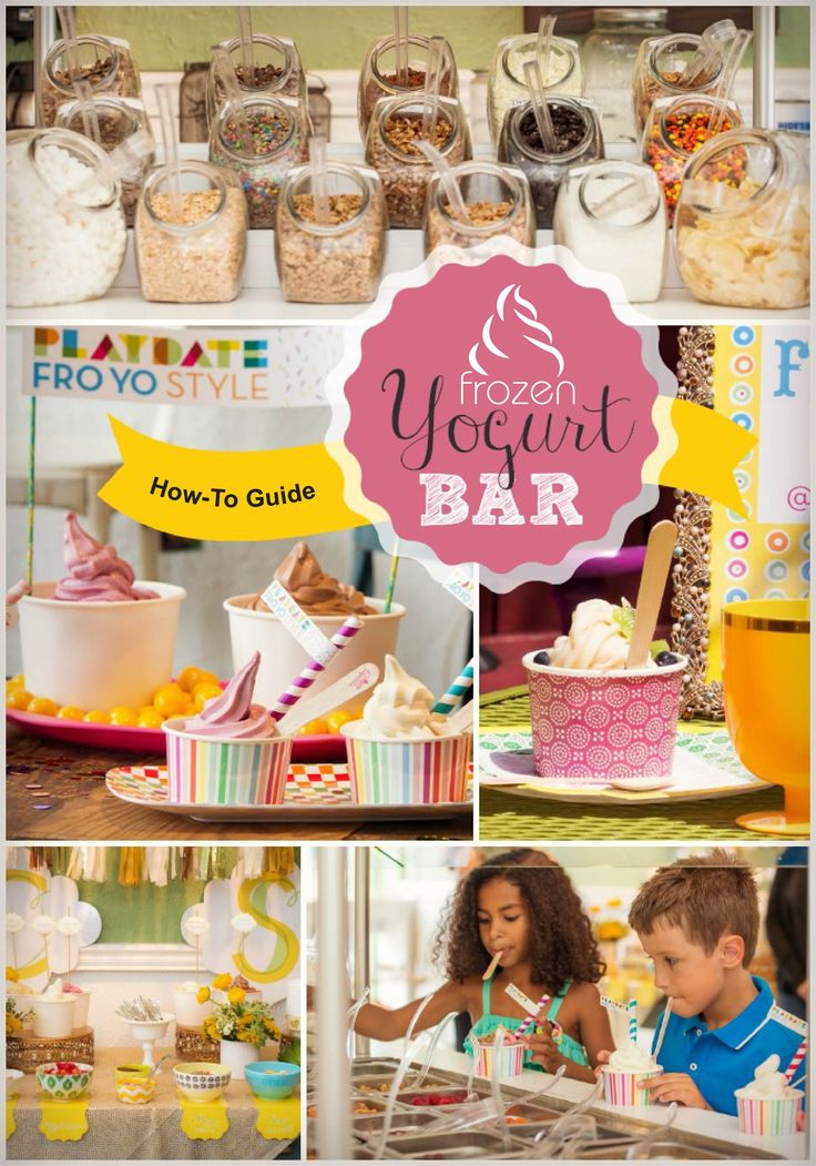 frozen yogurt bars for events expert howto tips bar