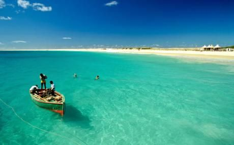 A fishing boat off Sal Island, Cape Verde.  #Capeverde #Myheritage <3
