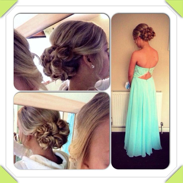 Clients hair for school prom