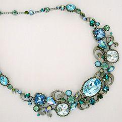 Sorrelli Ocean Swirl Statement Necklace. A fabulous vintage shape. Something Bleu you can wear again & again.