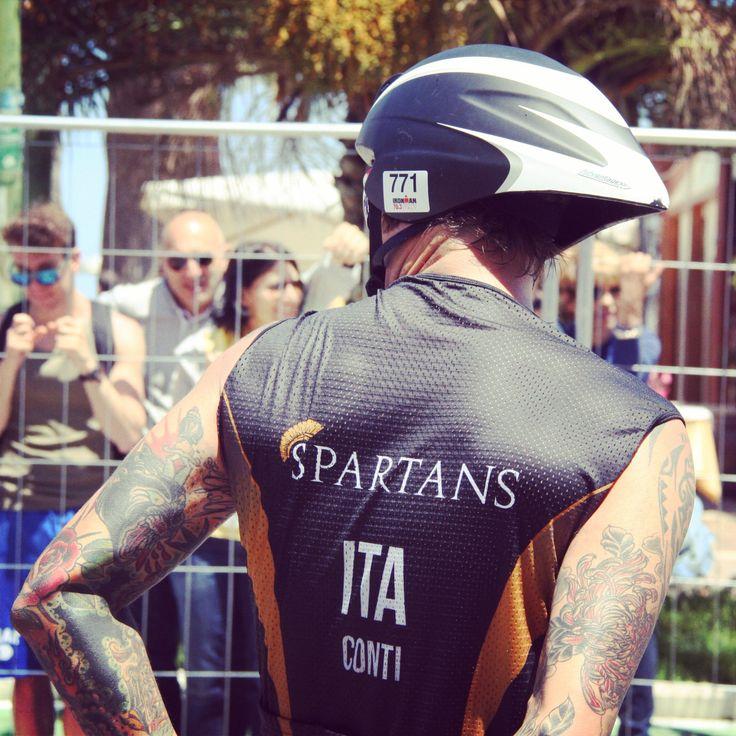 l'attimo prima di partire con la bike per la seconda prova di #triathlon #pescara #ironman