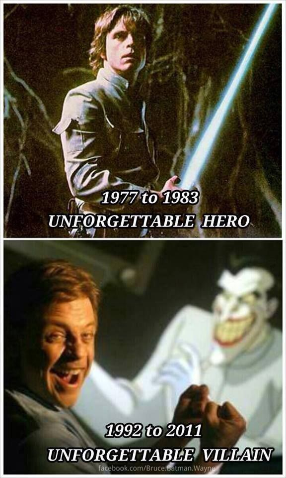 From an unforgettable hero to an unforgettable villain   I love this!!!