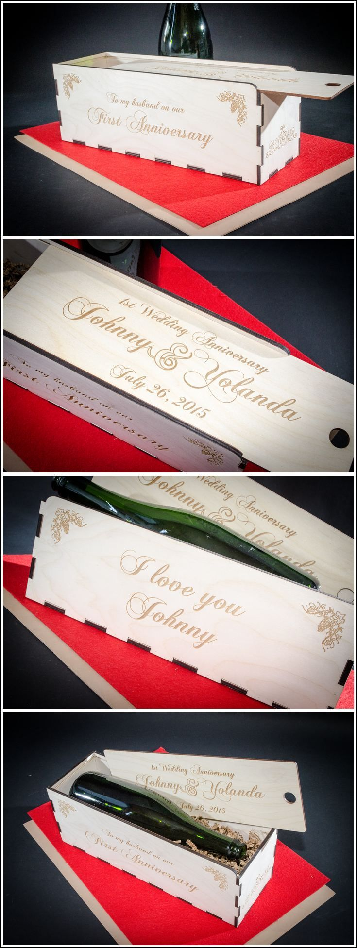 Best wedding wine gift boxes images on pinterest
