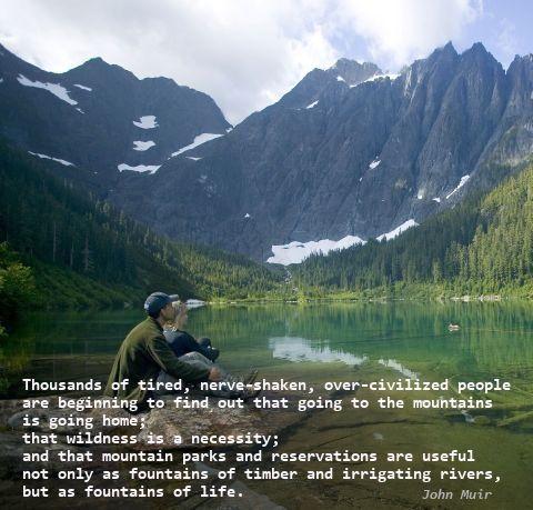John Muir quote - mountains