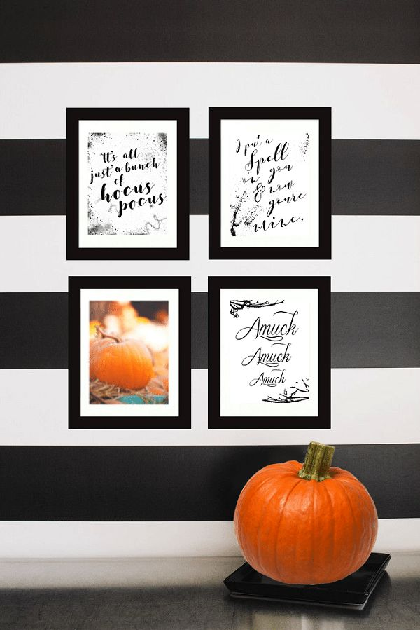 Halloween Hocus Pocus Printables. Every Halloween watching Hocus Pocus is a must! Jazz up your Halloween Décor with these free printables!