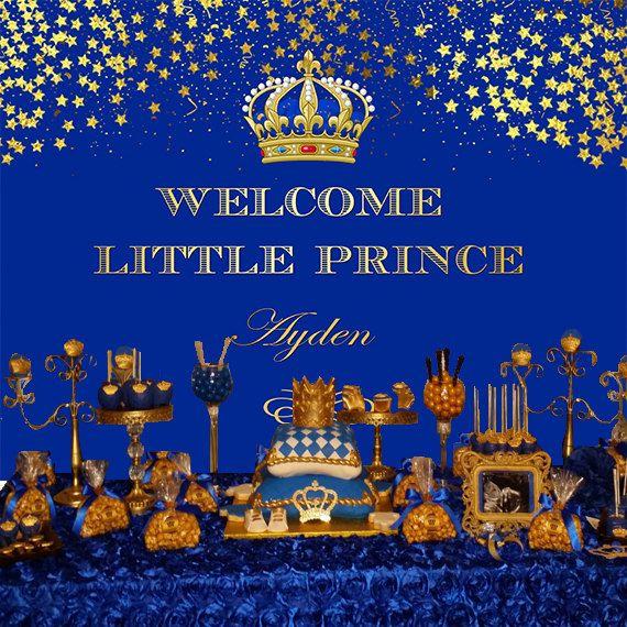 Printable Royal Prince Themed Royal Blue by STYLEMEMIAMIASTUDIO