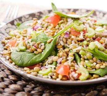Onze lunch voor vandaag!!!!! Salade met rijst en linzen - Recept - Jumbo Supermarkten
