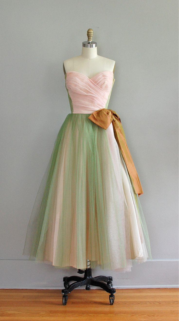 1950s dress / vintage 50s party dress / Fortune's by DearGolden