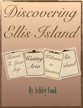 Discovering Ellis Island was designed to enrich lessons on immigration and Ellis Island. This includes a research project and a visit through Ellis Island activity. This does include my Heritage Project. This Includes:  Teacher Notes: Links to sites to help enrich the lesson Discussion questions Book ideas to help enrich the lesson Writing prompt Parent letter Two part project.