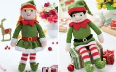 Bernard and Bernadette - Free Christmas Elf Knitting Patterns