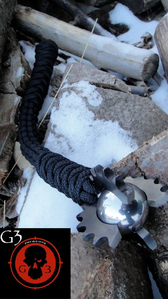 Mace / Flail spiked with Chrome plated Hardened by G3survival, $165.00