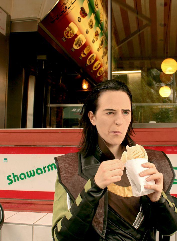 LOKI: I hate Shawarma by *fahrchan on deviantARTLoki Cosplay, Tom Hiddlestonlokid, Cosplay Win, Loki Shawarma, Talk Nerdy, Superhero Batman, Hate Shawarma, El Shawarma, Nerdy Things