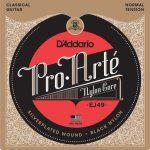 D'Addario Cordes en nylon noir pour guitare classique D'Addario Pro-Arte EJ49, Normal: Jeu Pro-Arte le plus vendu par D'Addario, la tension…