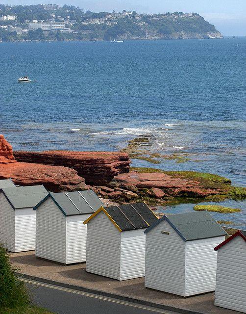 Beach Huts and Sea - Paignton, England