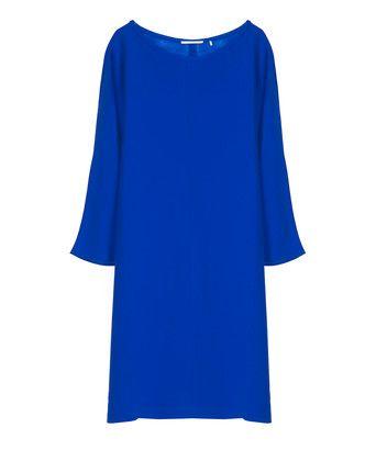 boat-neck jurk - <ul><li>Soepelvallende jurk</li><li>Afhangende mouw</li><li>Boothals</li><li>Gemaakt in ons atelier in Turkije</li></ul>