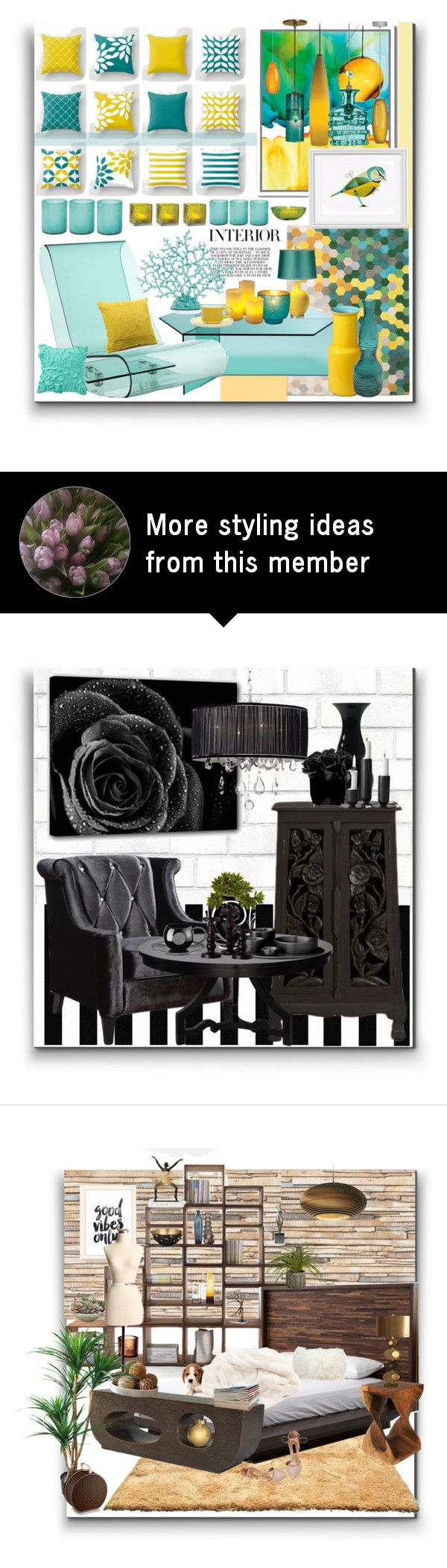 """""""Interior"""" by marionmeyer on Polyvore featuring interior, interiors, interior design, home, home decor, interior decorating, Jamie Young, Cultural Intrigue, West Elm and Tech Lighting"""
