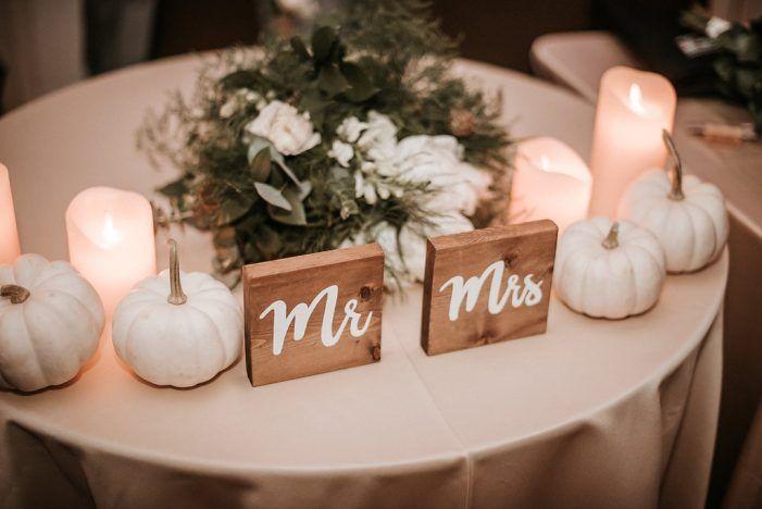 Rustic Chic Virginia Winery Wedding Fall Wedding Tables Pumpkin