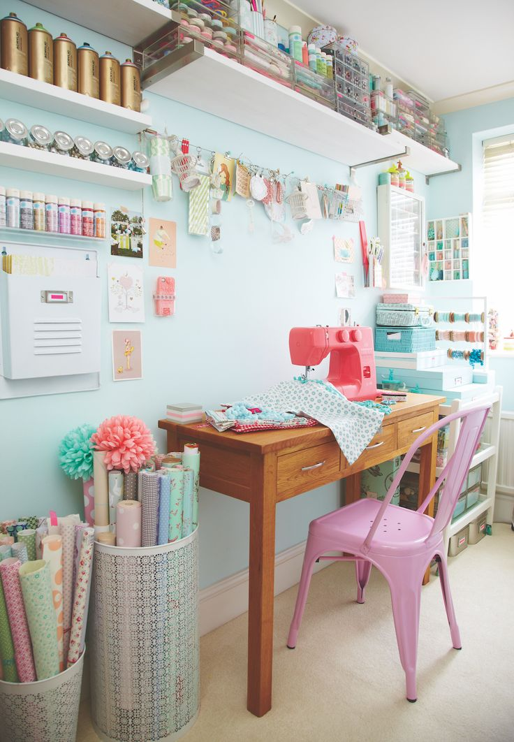 A Crafty Workspace By Torie Jayne @ Heart Home
