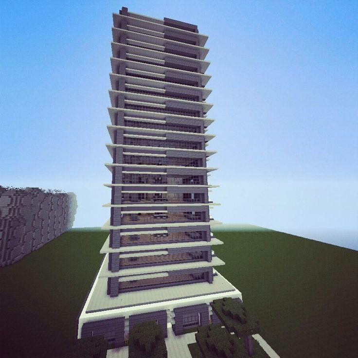 Minecraft modern skyscraper apartment