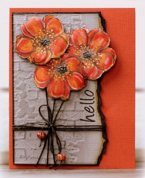 hello card by Birgit